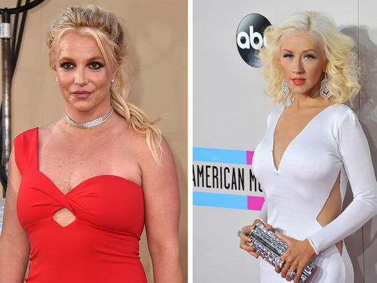 Christina Aguilera and Britney Spears-1624955909210