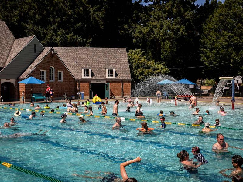 Hundreds flocked to public pools during an unprecedented heat wave in Portland, Oregon.