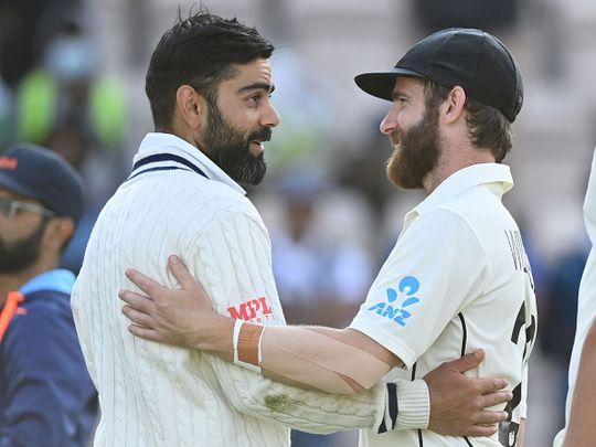 India's Virat Kohli and New Zealand's captain Kane Williamson