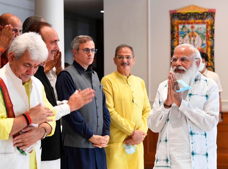 Omar Abdullah along with a host of top political leaders met with Narendra Modi in New Delhi on June 25, 2019