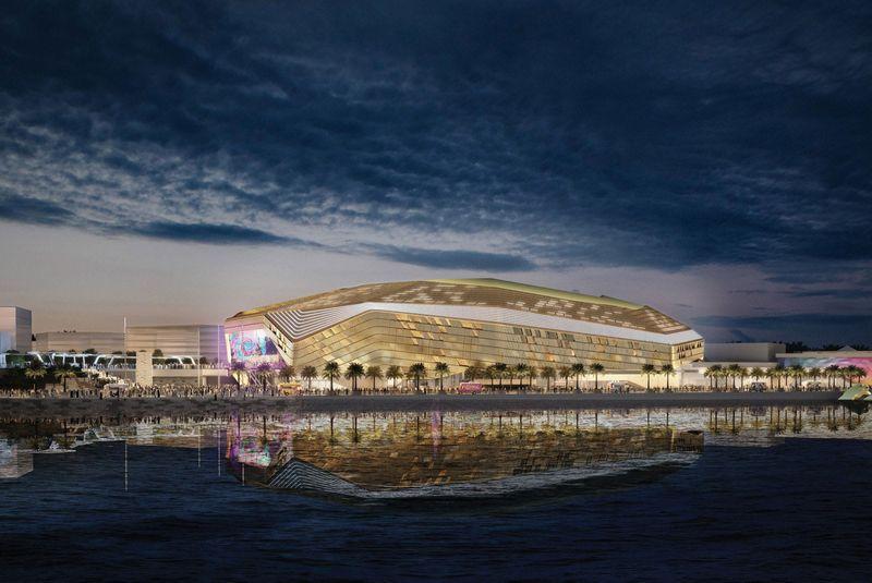The Etihad Arena on Yas Island