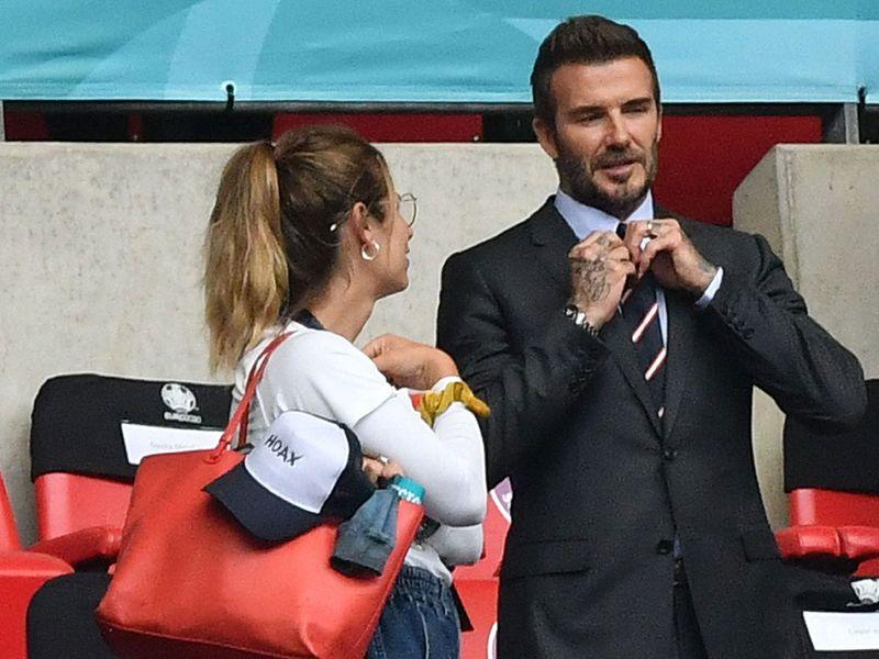 David Beckham at England v Germany
