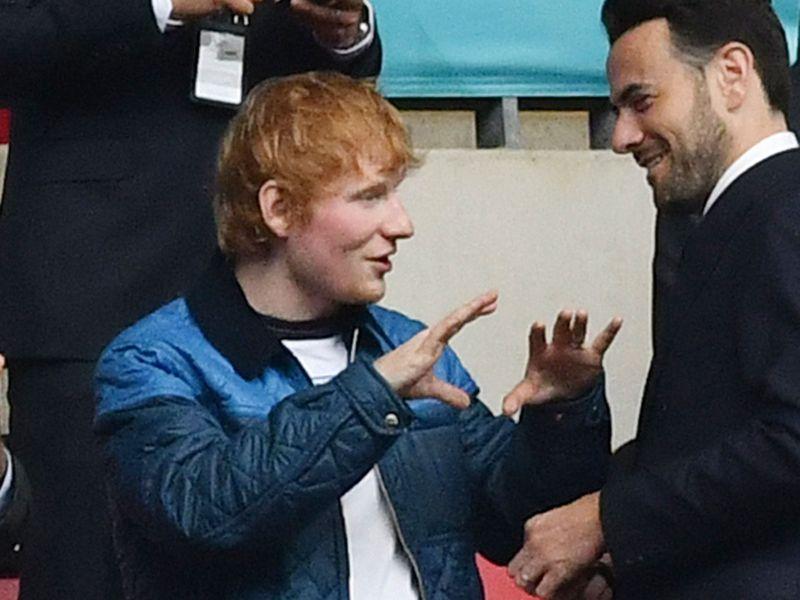Ed Sheeran at England v Germany