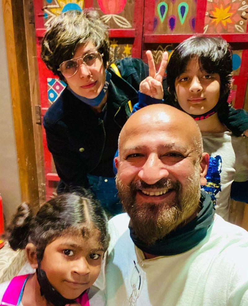 Raj Kaushal, Mandira Bedi and kids