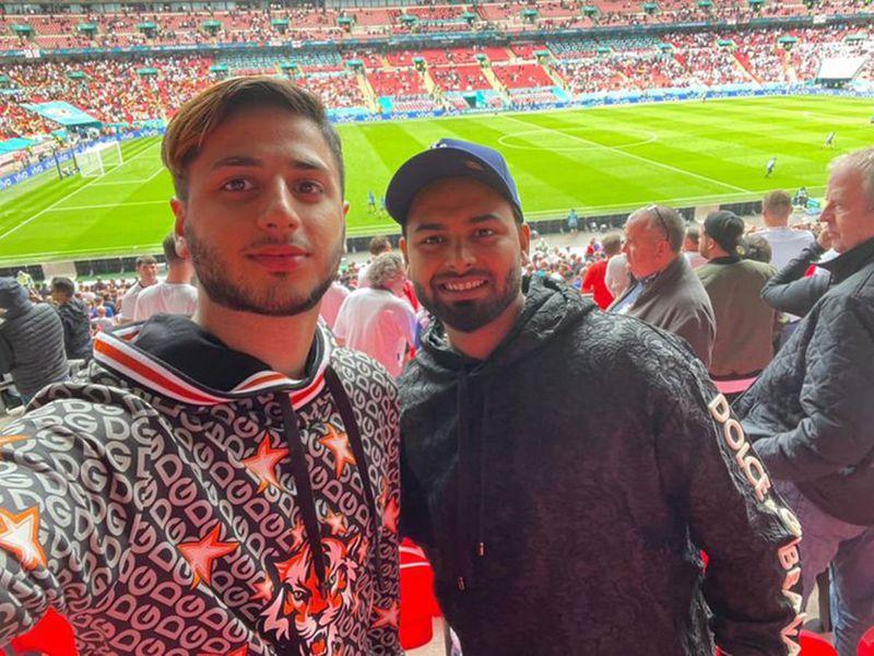 Rishabh Pant at England v Germany