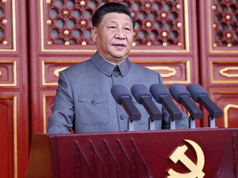 Chinese President and party leader Xi Jinping anniversary