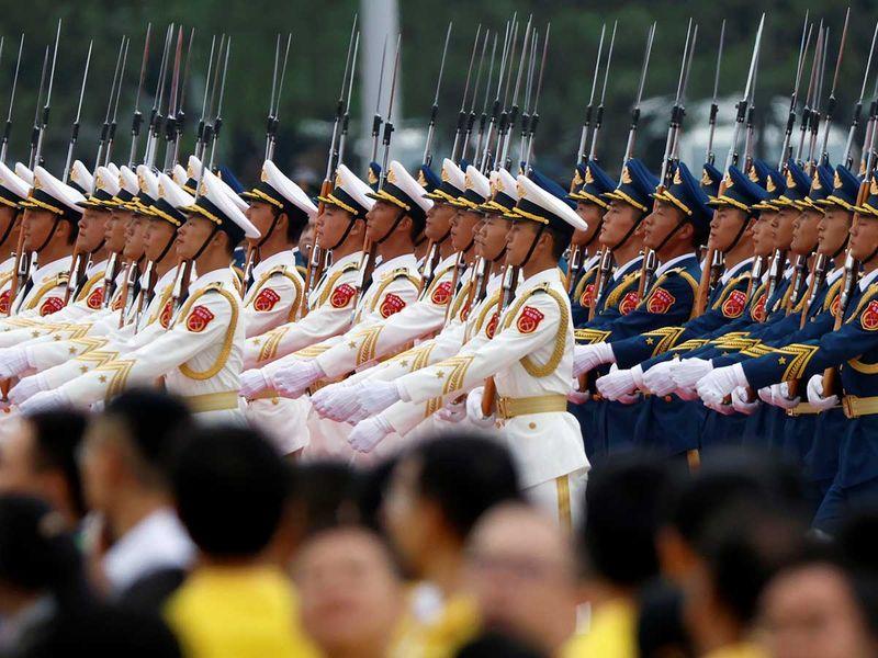 Honour guard china anniversary