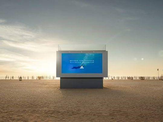 Liquid billboard by adidas