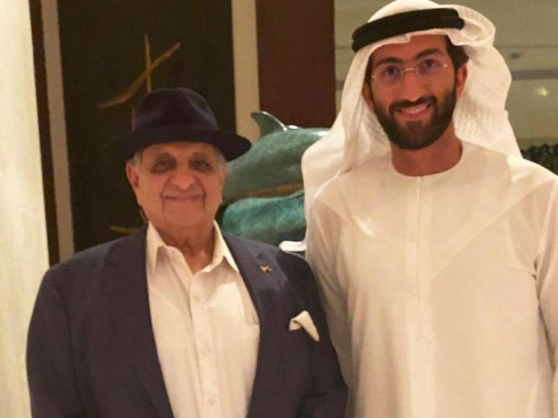 Mohammed Binhendi Group CEO (right) with Dr. Cyrus Poonawalla founder of Serum Institute of India