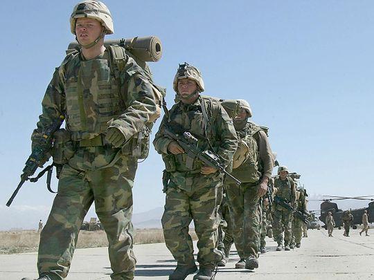 US soldiers at the Bagram Air Base, in Bagram