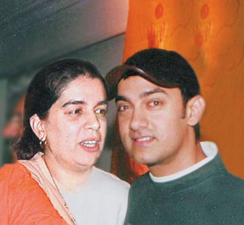 Aamir Khan with his first wife Reena Dutta