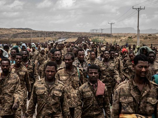 Ethiopian government soldiers