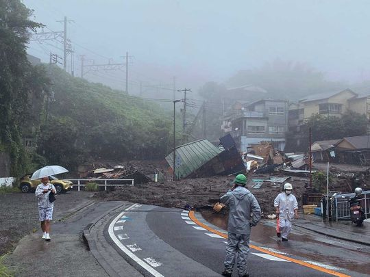 Japan mudslide