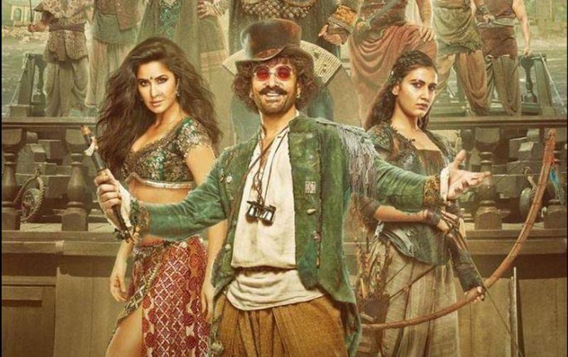 Aamir Khan with Katrina Kaif and Fatima Sana Shaikh in Thugs of Hindostan