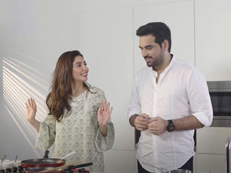 Mahira Khan and Humayun Saeed