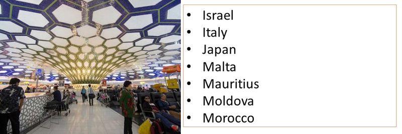 Israel Italy Japan Malta  Mauritius Moldova Morocco