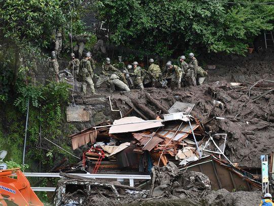 landslide in Atami, Shizuoka Prefecture