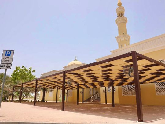 Dubai mosques are getting sunshades for worshippers' comfort and safety in summer heat-1625562519256