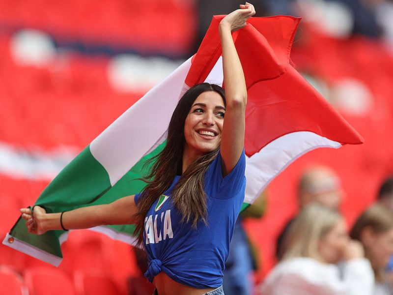 The fans were in at Wembley Stadium in London for the Euro 2020 semi-final between Italy and Spain