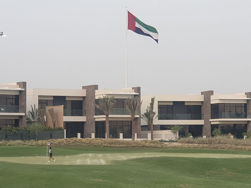 Trump International Golf Club, Dubai. Nine-hole par-three course.