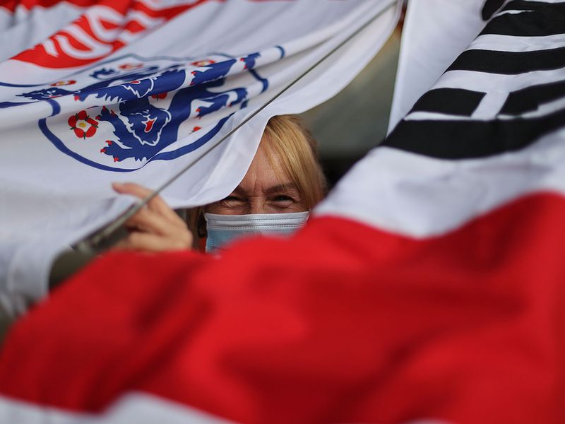 A nervous England fan before the Denmark game?