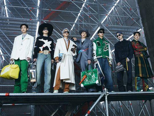 BTS in Louis Vuitton