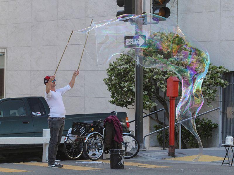 Bubble man gallery
