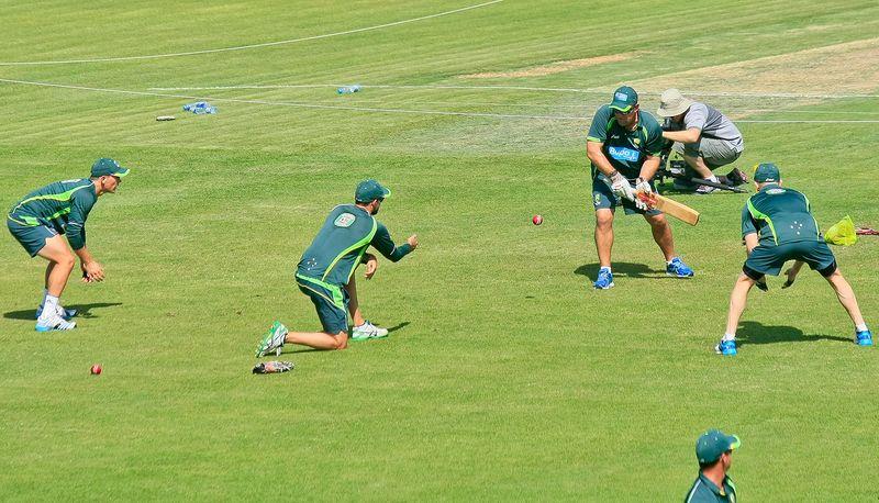 Cricket - Australians practice in Sharjah
