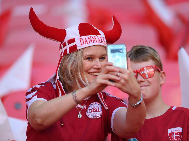 Denmark fans were inside Wembley early
