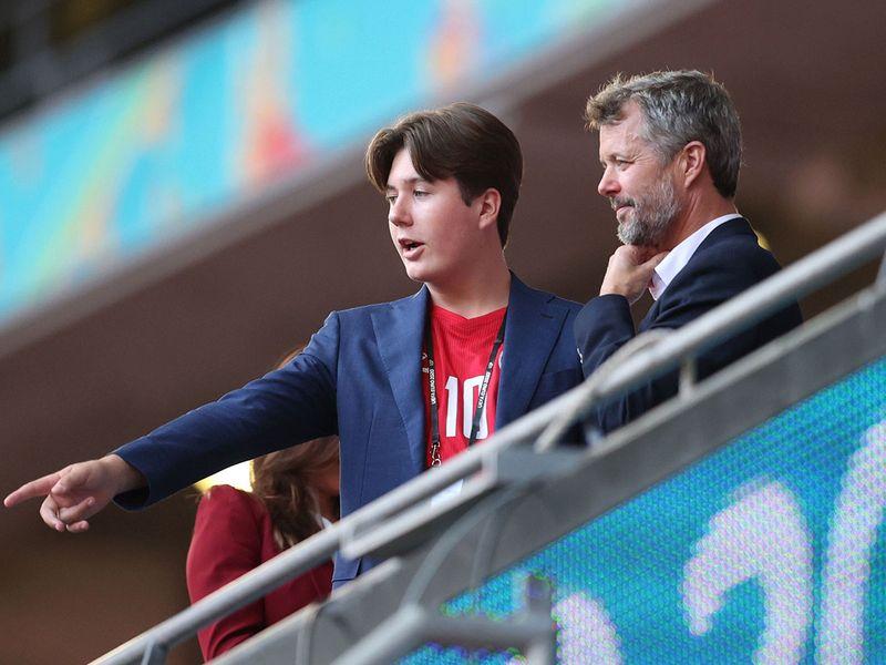 Denmark's Crown Prince Frederik and Prince Christian
