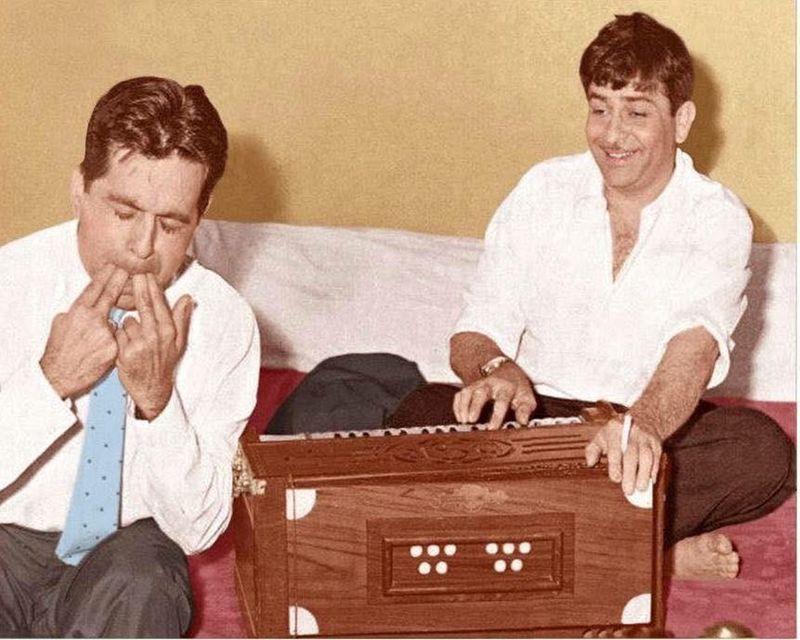 Dilip Kumar and Raj Kapoor