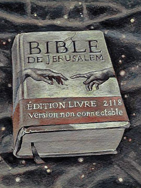 Jerusalem Bible, 2118 edition, non-connectable version, 20.7 x 19.7 cm, gouache on Arches paper, 2017