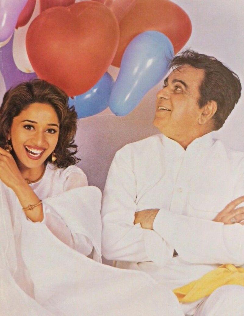 Madhuri Dixit Nene and Dilip Kumar