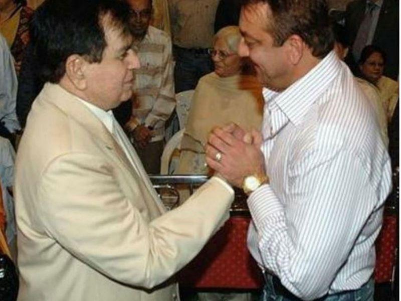Sanjay Dutt with Dilip Kumar