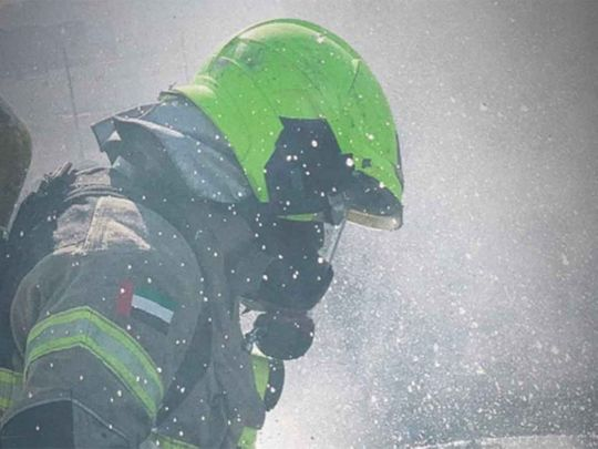 Dubai Civil Defence put out a fire in Jebel Ali on July 7