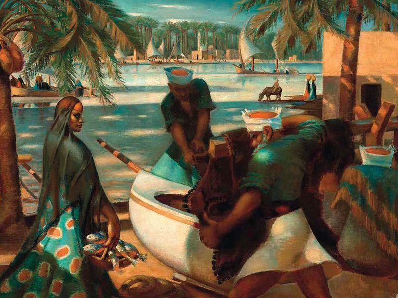 Pêcheurs à Rashid (Rosette) (1941) Mahmoud Saïd