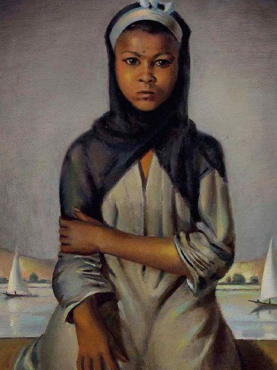 Petite fille d'Assiout (1945) oil on canvas