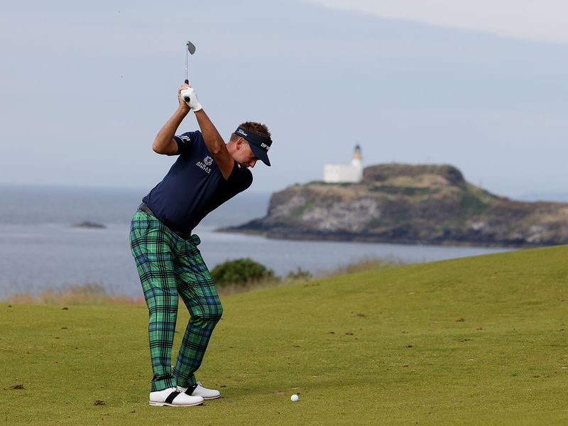 Ian Poulter in action on the 13th at the Scottish Open, The Renaissance Club