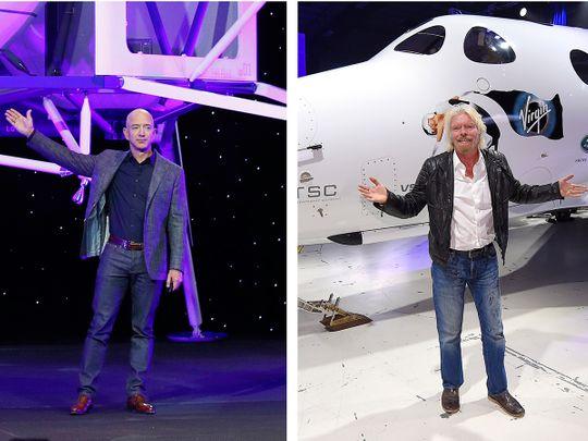 Jeff Bezos and Richard Branson