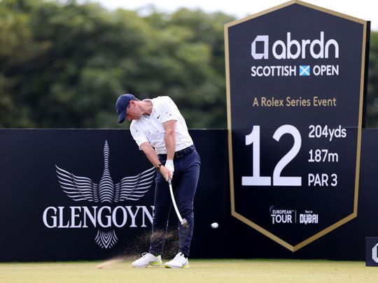 Rory McIlroy in action at the Scottisn Open