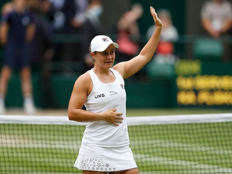 Ash Barty was emotional after her Wimbledon win