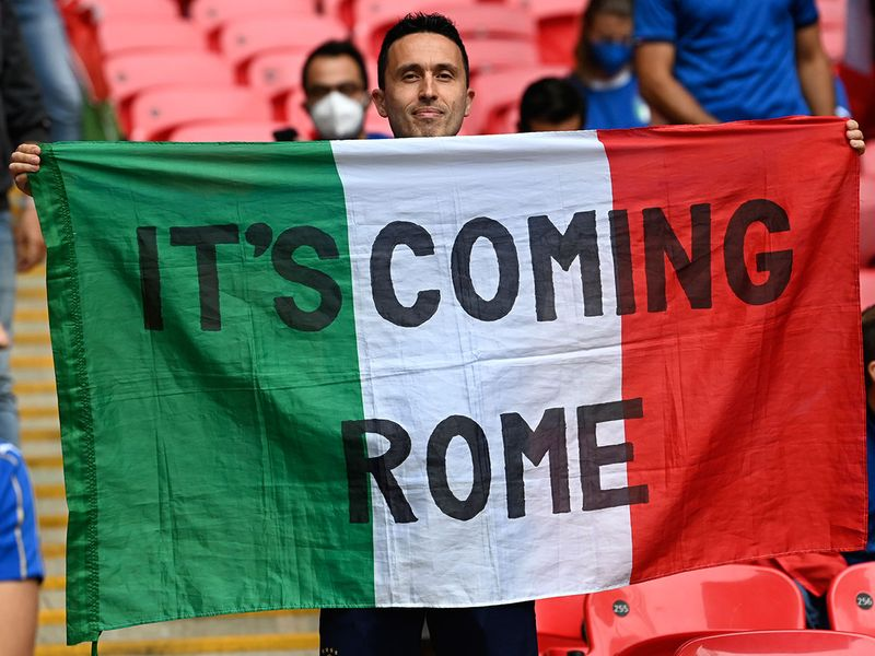 Italy fans in Wembley