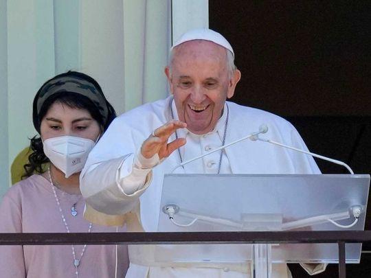 Pope Francis balcony hospital surgery
