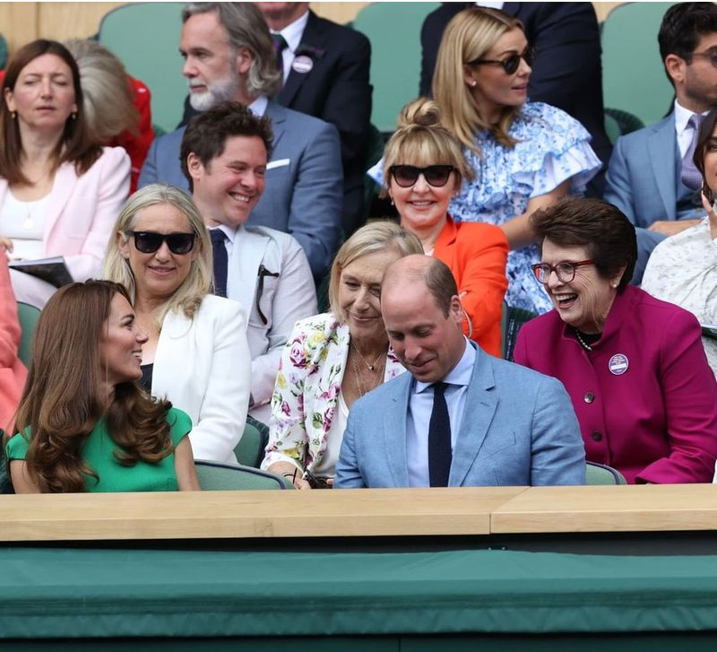 The Duke and Duchess of Cambridge, Kate Middleton and Prince William,  Billie Jean King and  Martina Navratilova
