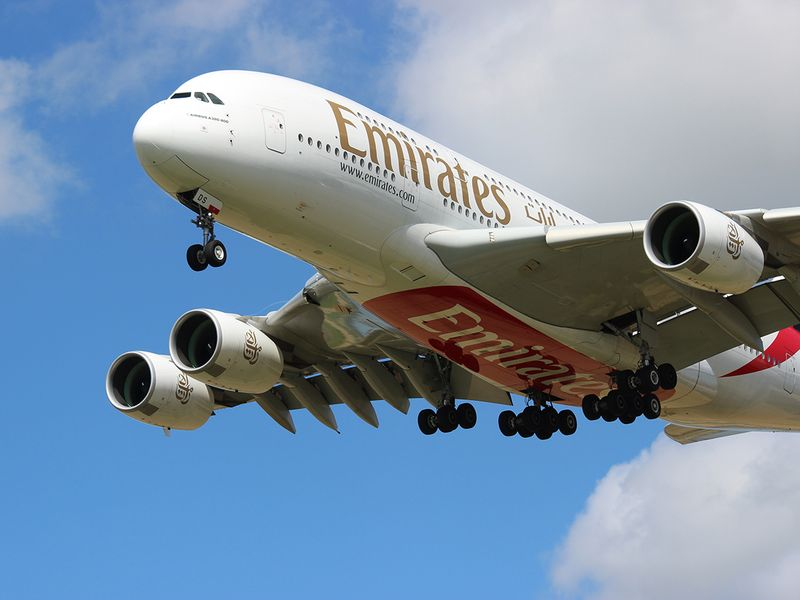 An Emirates airline Airbus A380