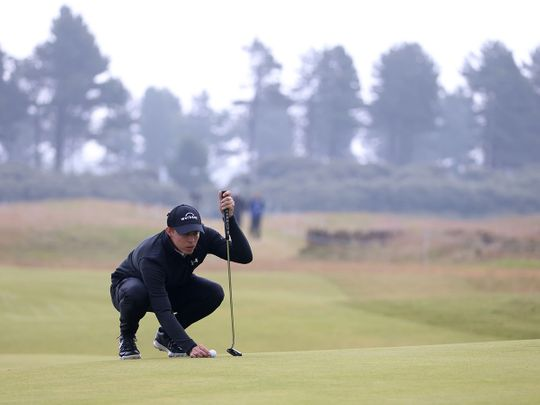England's Matthew Fitzpatrick during the final round of the Scottish Open