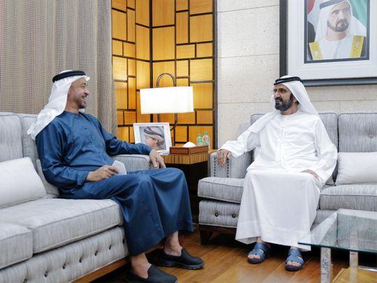 Sheikh Mohammed bin Rashid (right) and Sheikh Mohamed Bin Zayed.