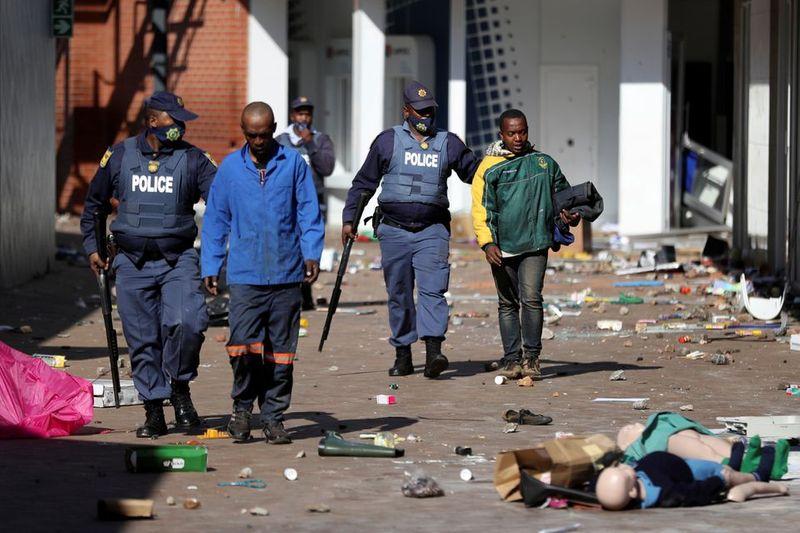 South Africa demonstrators