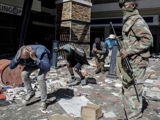 south africa riots police soldiers jacob zuma