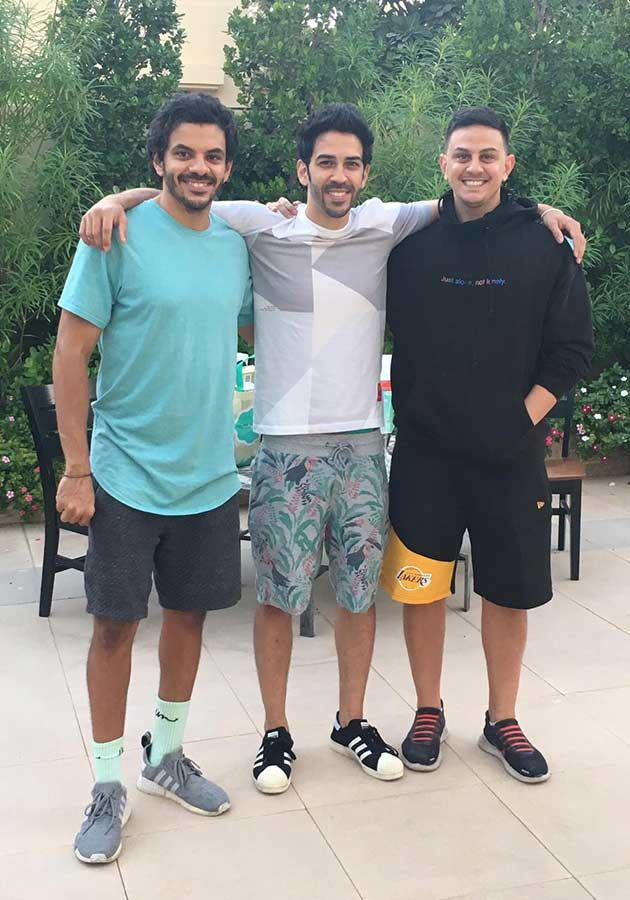 Al Harbi with his brother Laith and their friend Wyle.